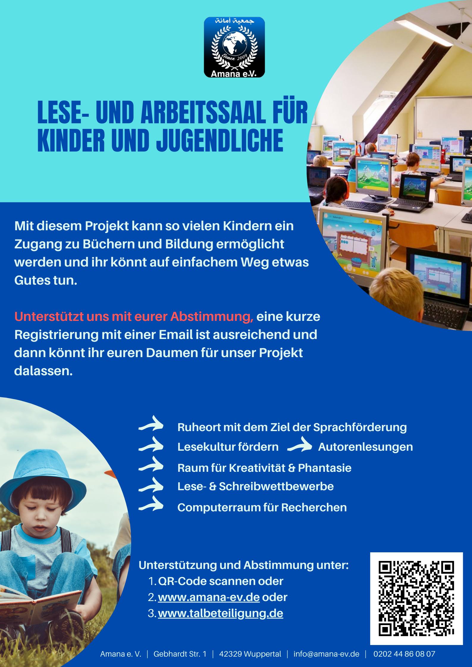 Lese- und Arbeitssaal für Kinder und Jugendliche